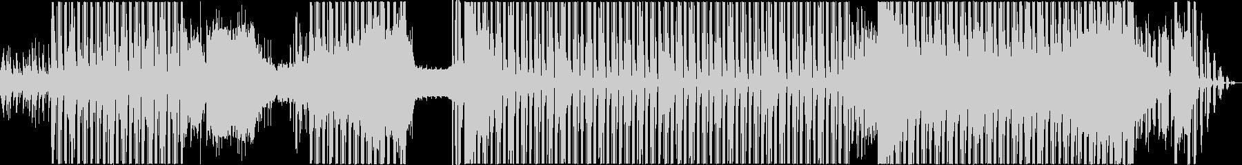 ラテン系の攻撃的なBGMの未再生の波形
