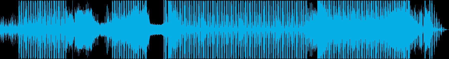 ラテン系の攻撃的なBGMの再生済みの波形