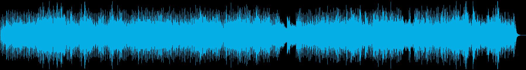神秘的で広大なシンセサイザーアンビエントの再生済みの波形