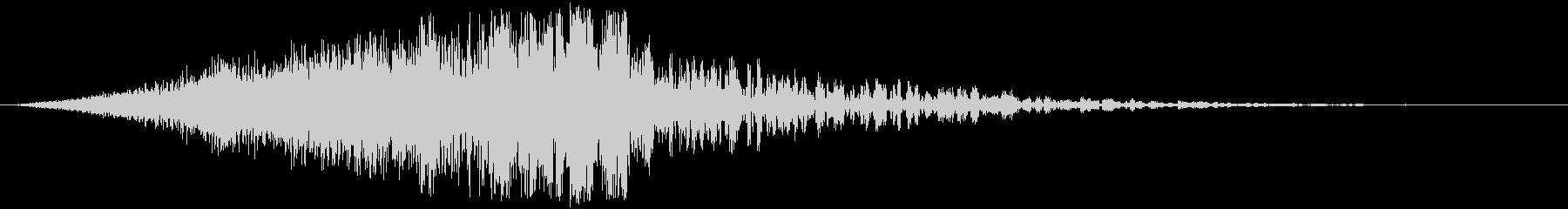 ヘビーインパクトエレクトロクランクヒットの未再生の波形