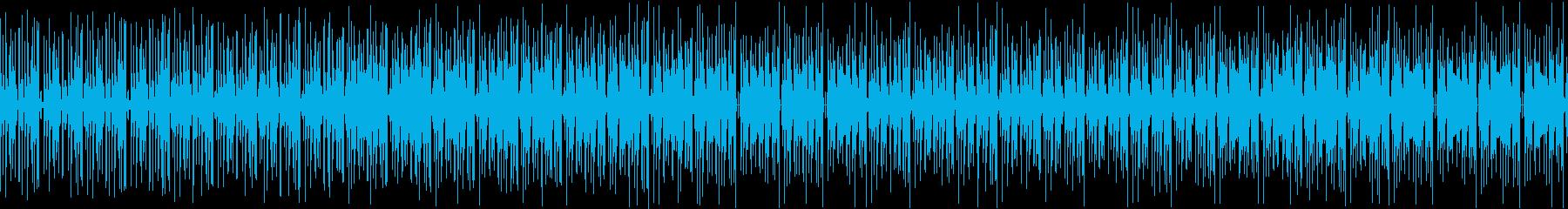 電脳世界のドラムンベースの再生済みの波形