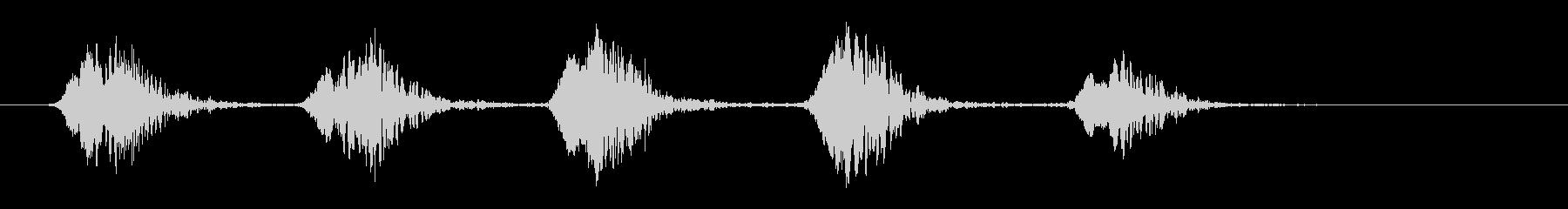 カーカー_カラスの鳴き声の未再生の波形