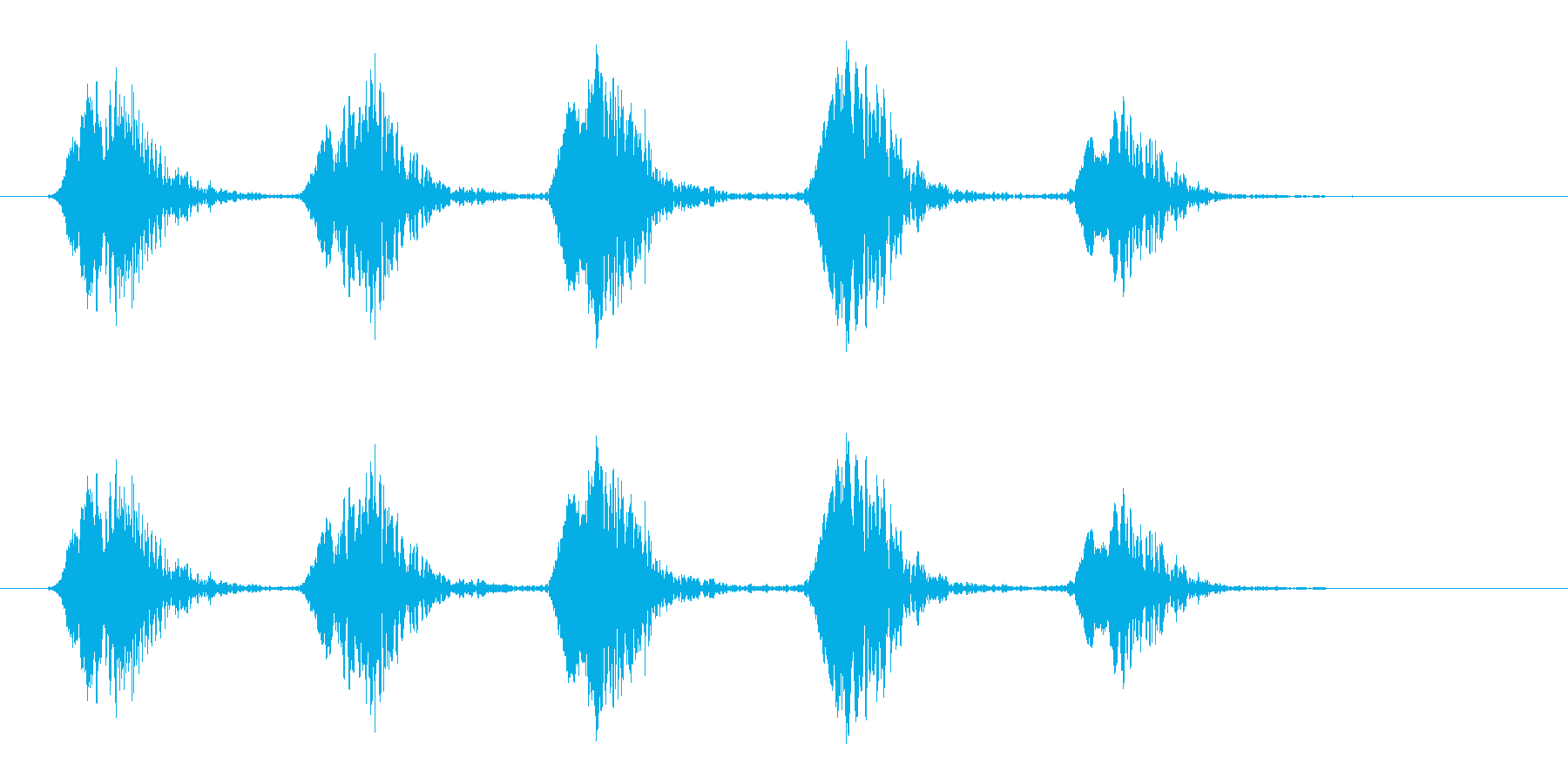 カーカー_カラスの鳴き声の再生済みの波形