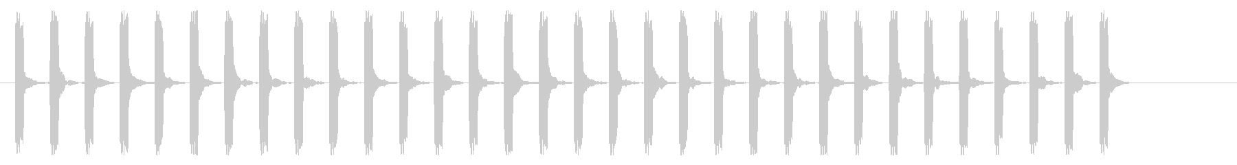 心電図の音-3-10(BPM130)の未再生の波形