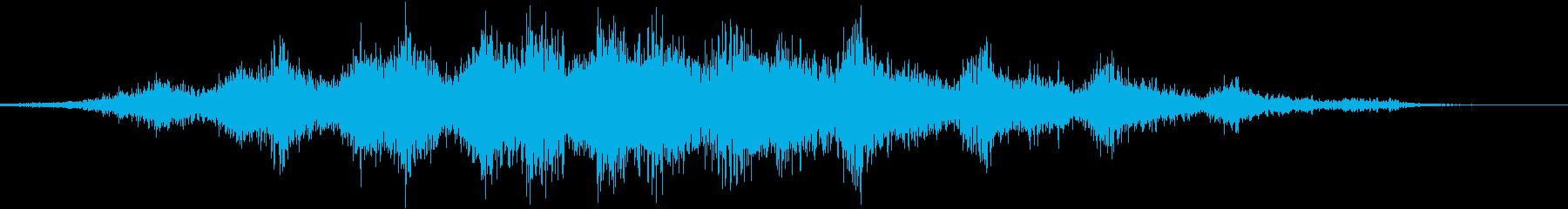 【ホラーゲーム】 不穏なタイトルロゴの再生済みの波形
