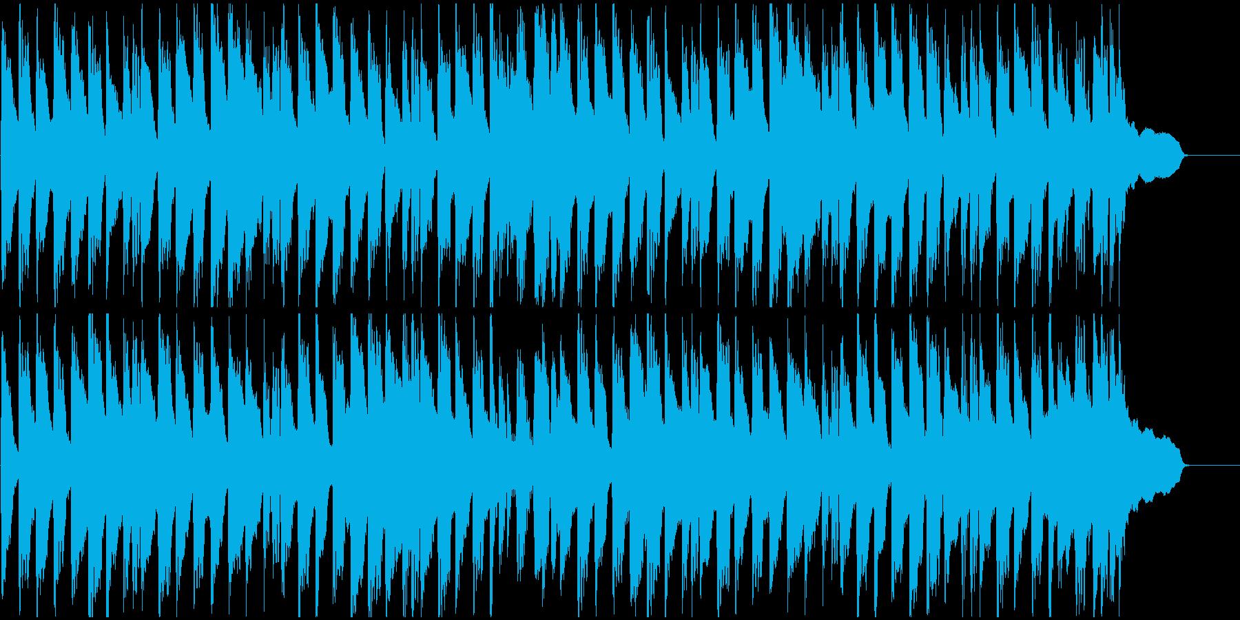 ほのぼのとしたカントリー風ジングルの再生済みの波形