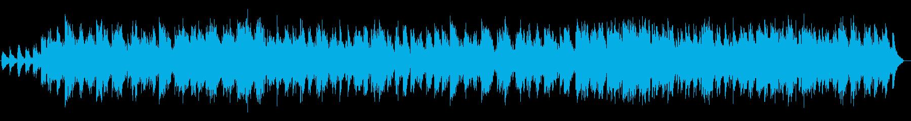 優しさを感じるシンセサイザーサウンドの再生済みの波形