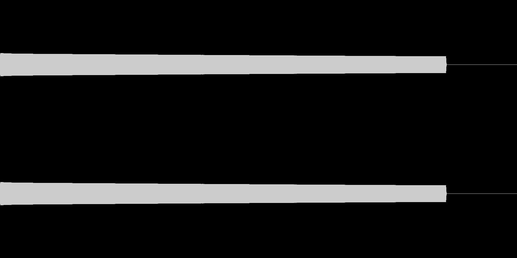 ピーという放送禁止用語を隠す音の未再生の波形