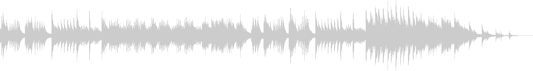 波紋をイメージした甘美なピアノソロの未再生の波形