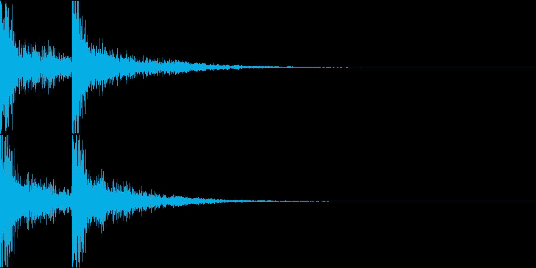 リッチな響きのある短いテーマ音の再生済みの波形