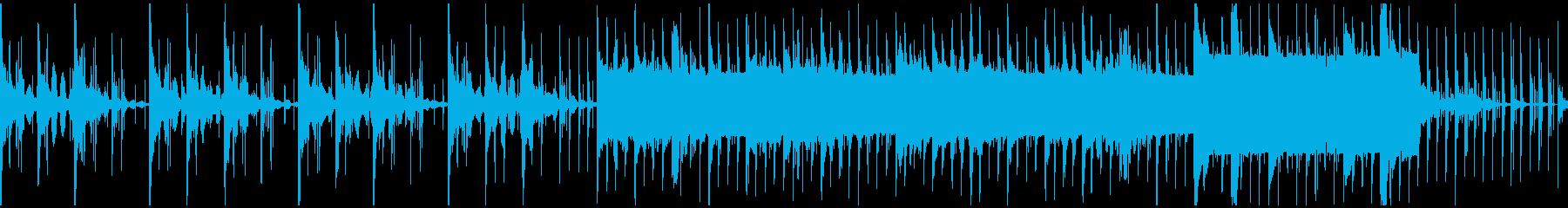 水中にいる様な感覚に電子的なリズムの再生済みの波形