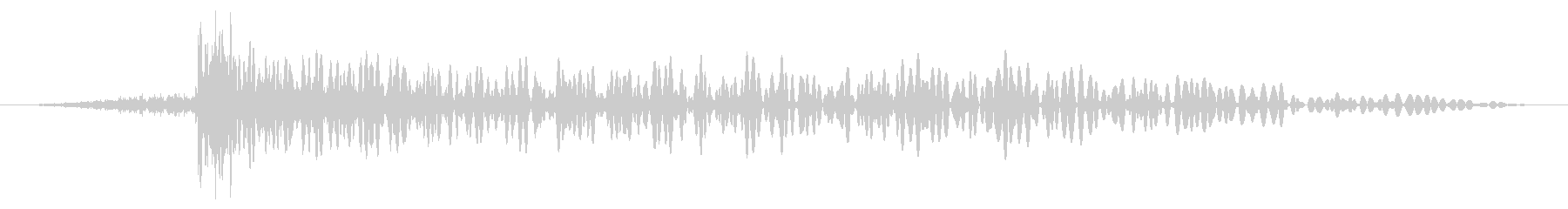 ディープグリッティアタックブームの影響の未再生の波形