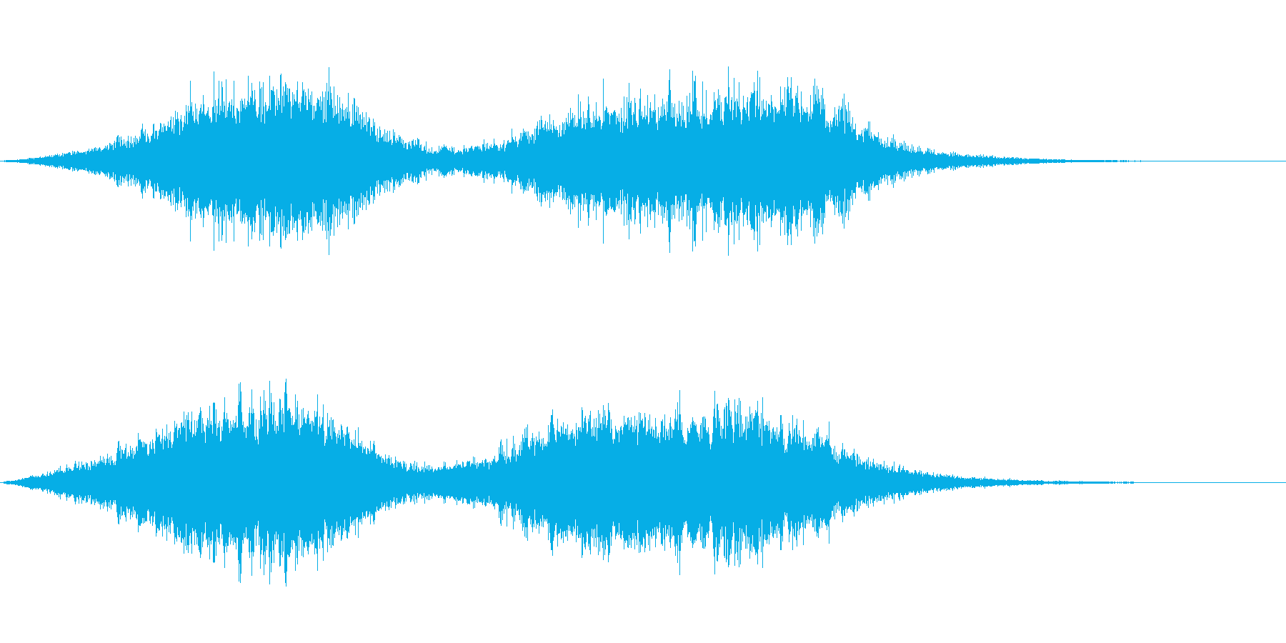 PS2風 宇宙感あるゲーム起動音の再生済みの波形