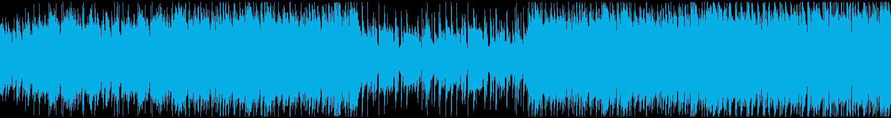 映像・穏やかな日常・ループの再生済みの波形