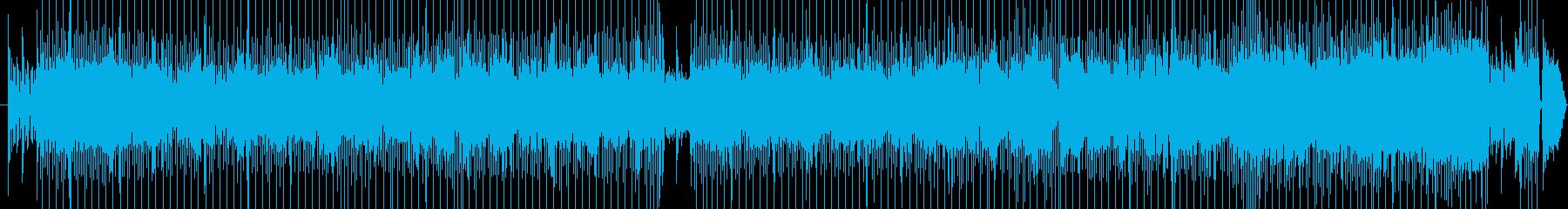ギターのリフがカッコいい軽快なロック!の再生済みの波形