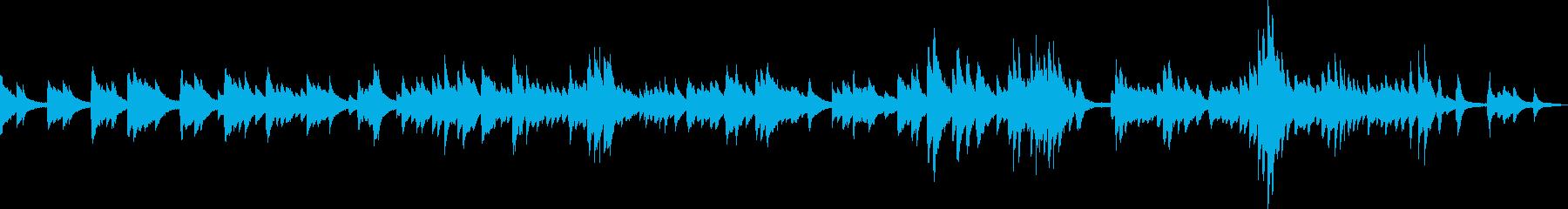 静かで感動的なピアノバラードの再生済みの波形