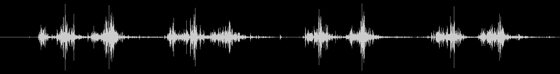 タブレッド菓子を出す音1モノラルの未再生の波形