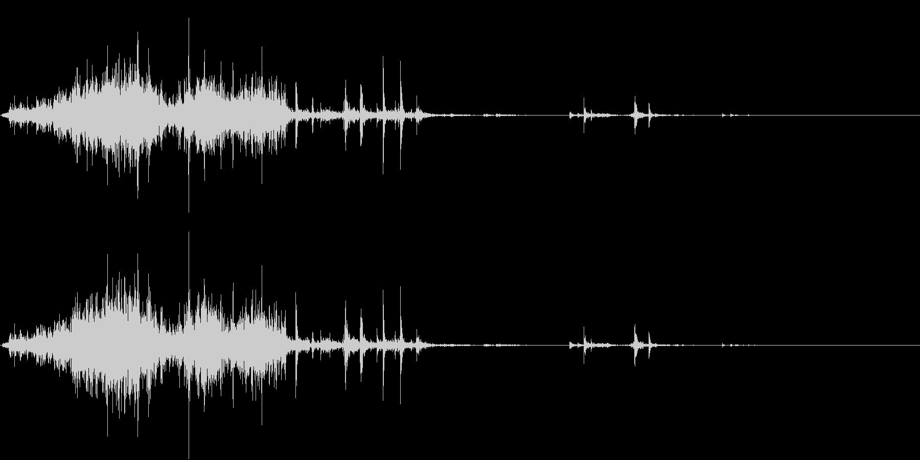 【生録音】ゴミの音 9 蹴散らすの未再生の波形