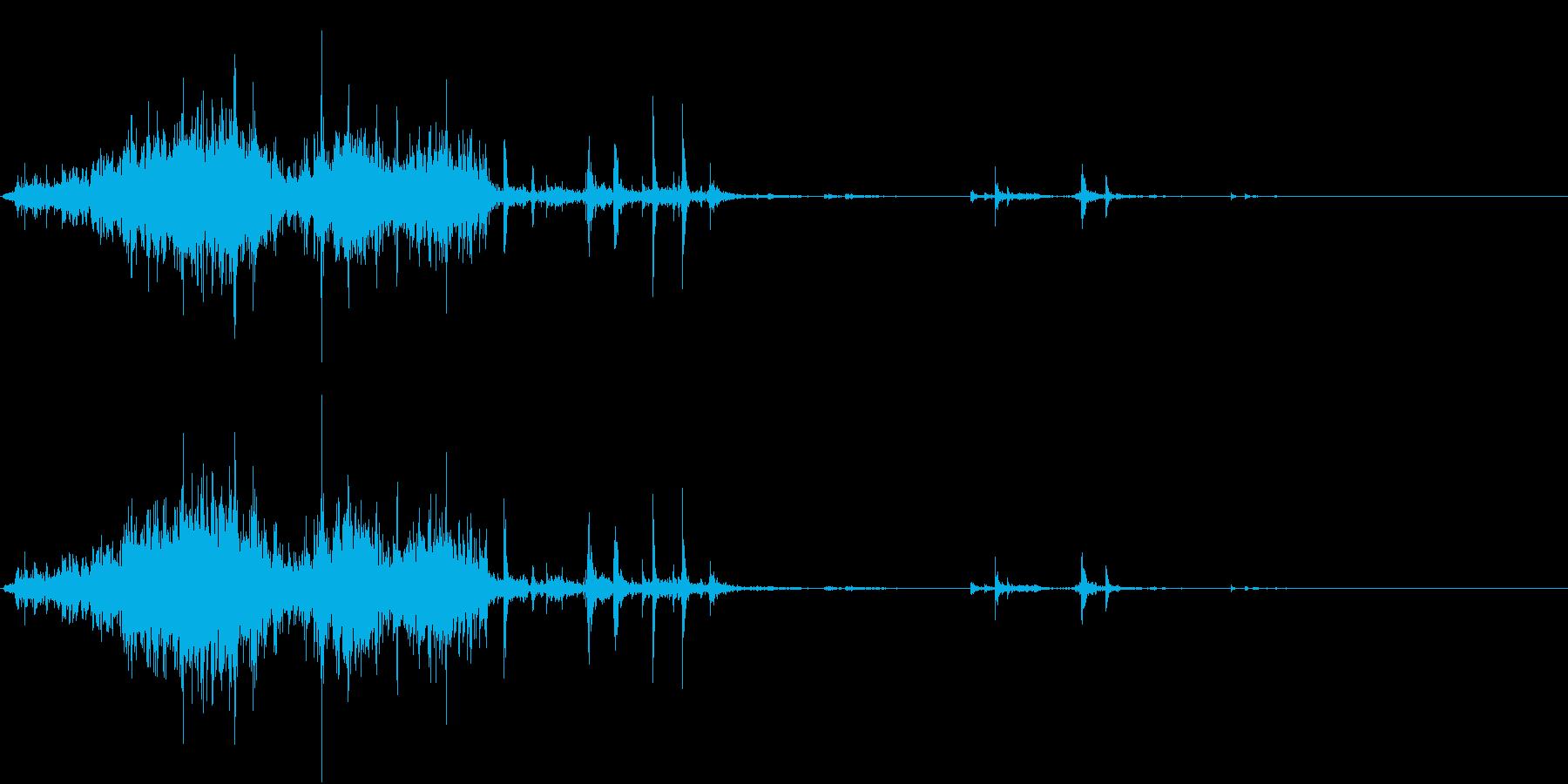 【生録音】ゴミの音 9 蹴散らすの再生済みの波形