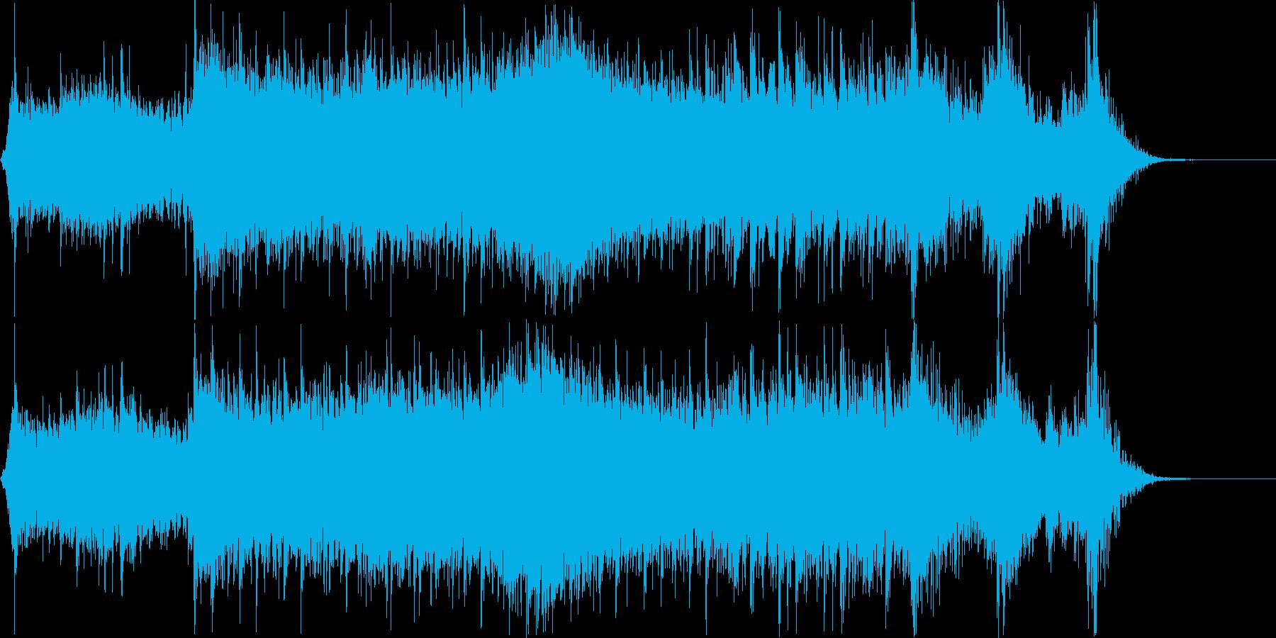 和楽器メインのアップテンポで激しい曲ですの再生済みの波形