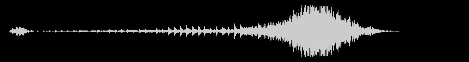 ワープ、次元に呑まれる音の未再生の波形