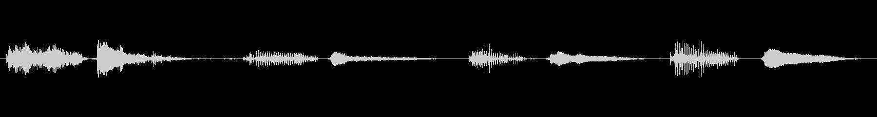 ゴブリン 睡眠いびき02の未再生の波形