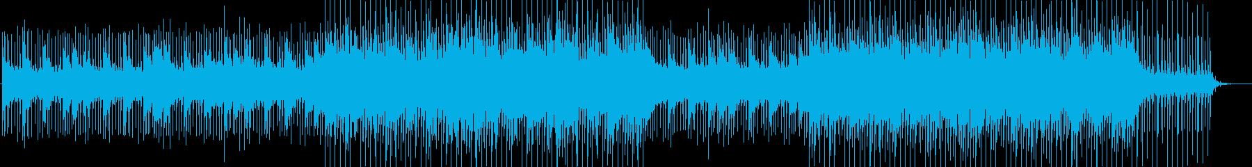 爽やかなイメージのアンビエントBGMの再生済みの波形