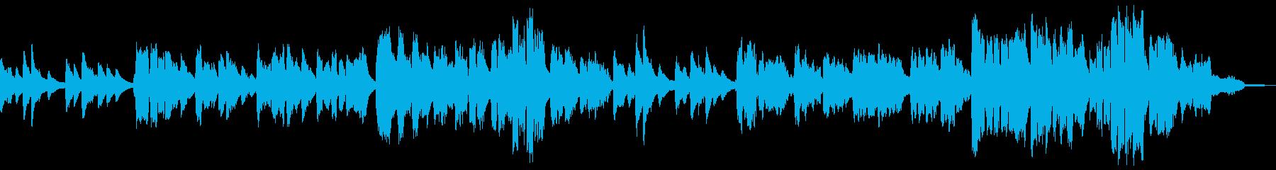 ピアノの弾き語りによる慈愛に溢れる唱歌の再生済みの波形