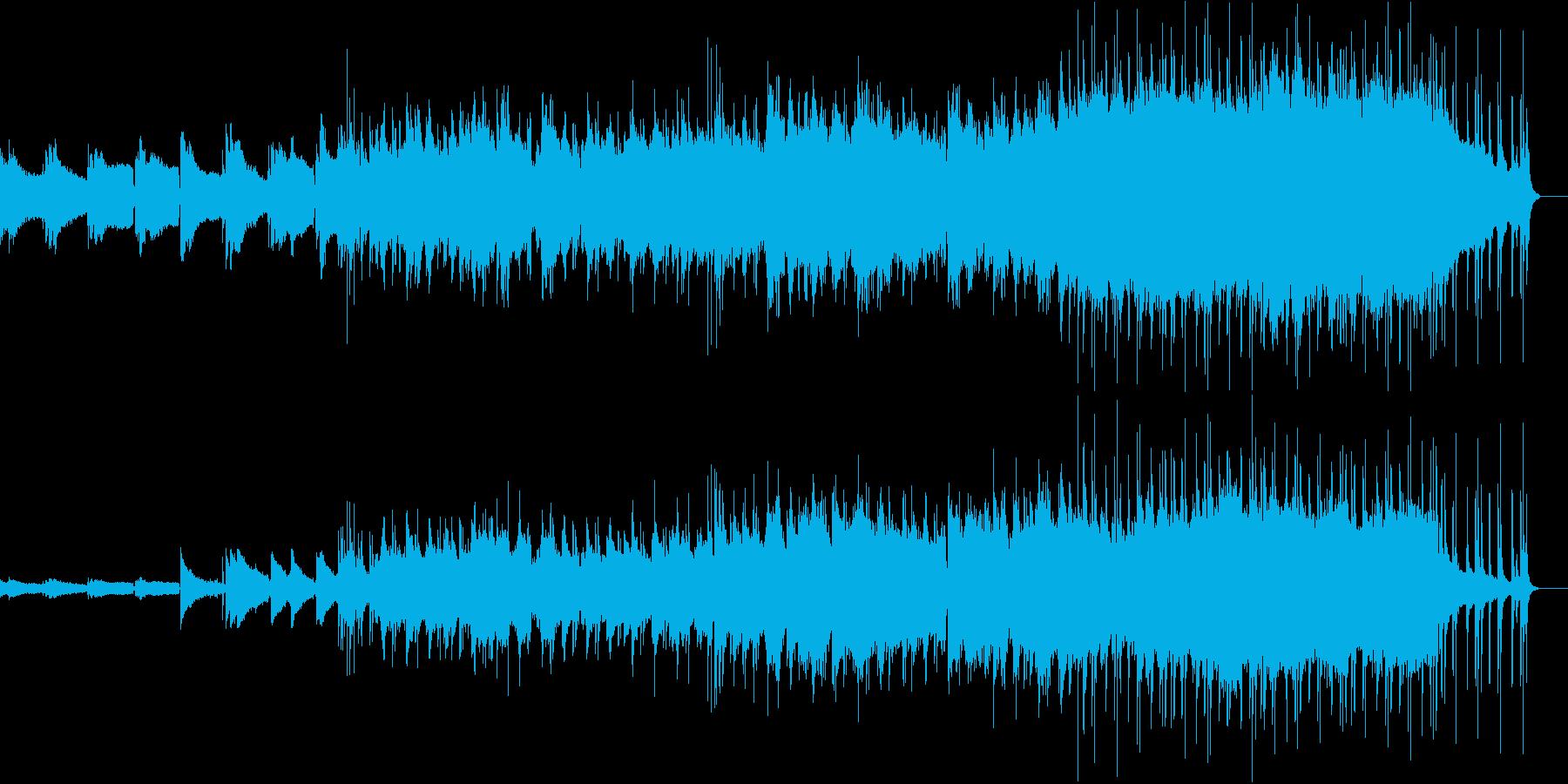 ゆったりしたギターソロの再生済みの波形