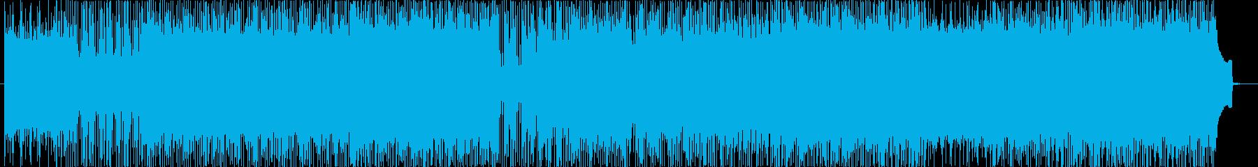 爽やかな青空を疾走するイメージのBGMの再生済みの波形