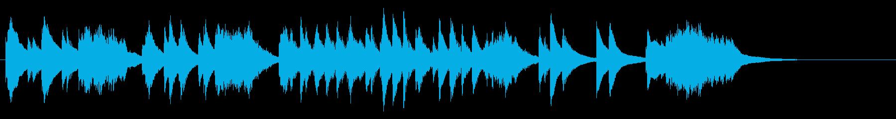 2台のマリンバ、まったり30秒ジングルの再生済みの波形