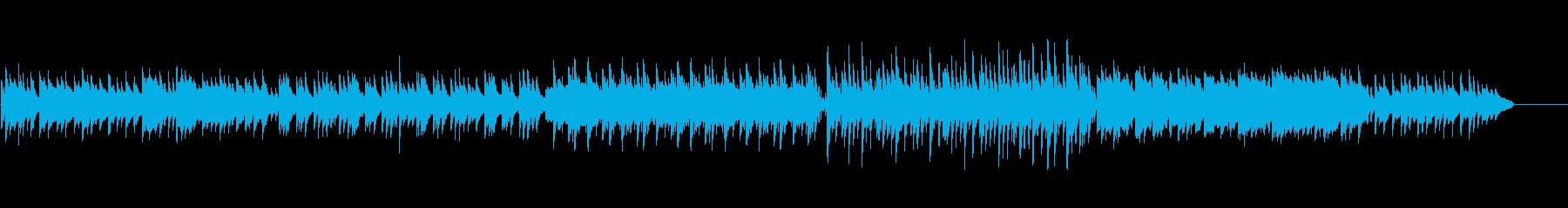 切ない物語の琴とピアノと尺八の和風曲の再生済みの波形