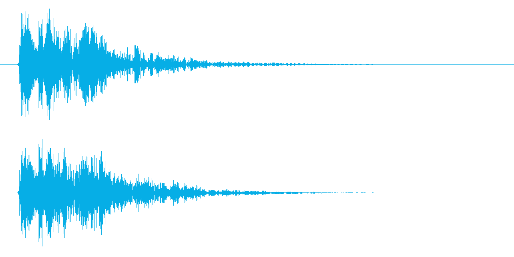 ポコンの再生済みの波形