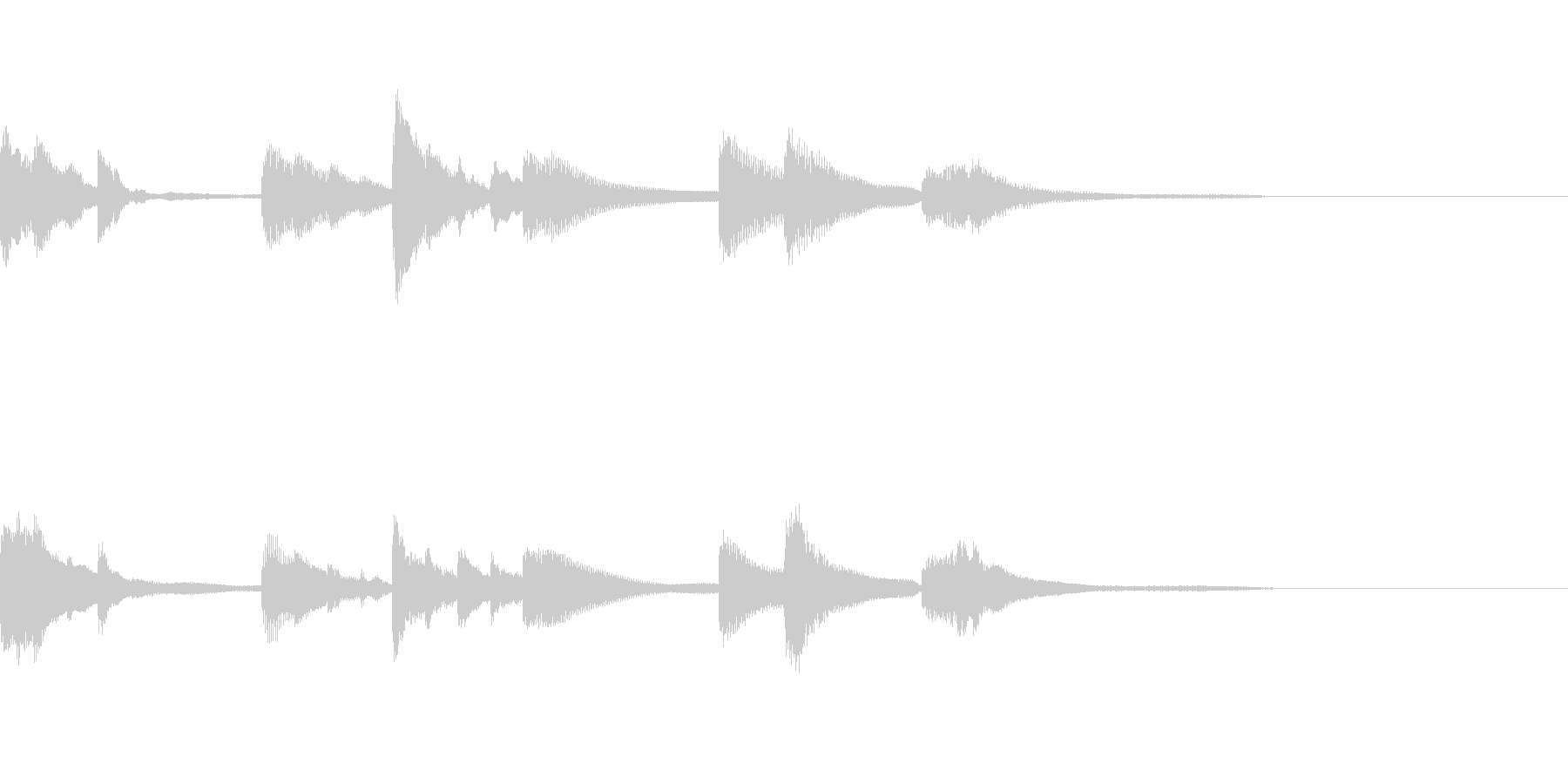 シンプルなピアノジングルの未再生の波形