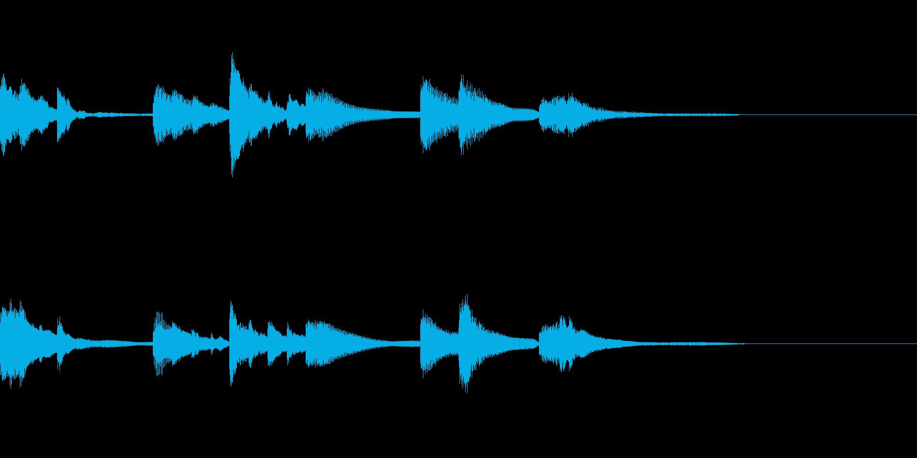 シンプルなピアノジングルの再生済みの波形
