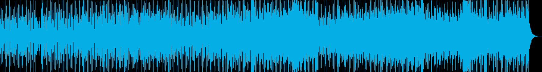 懐かしい感じの80年代テクノポップの再生済みの波形