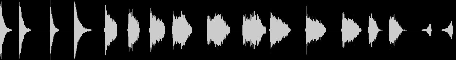 トーンディスクスロースピンヒューシューの未再生の波形