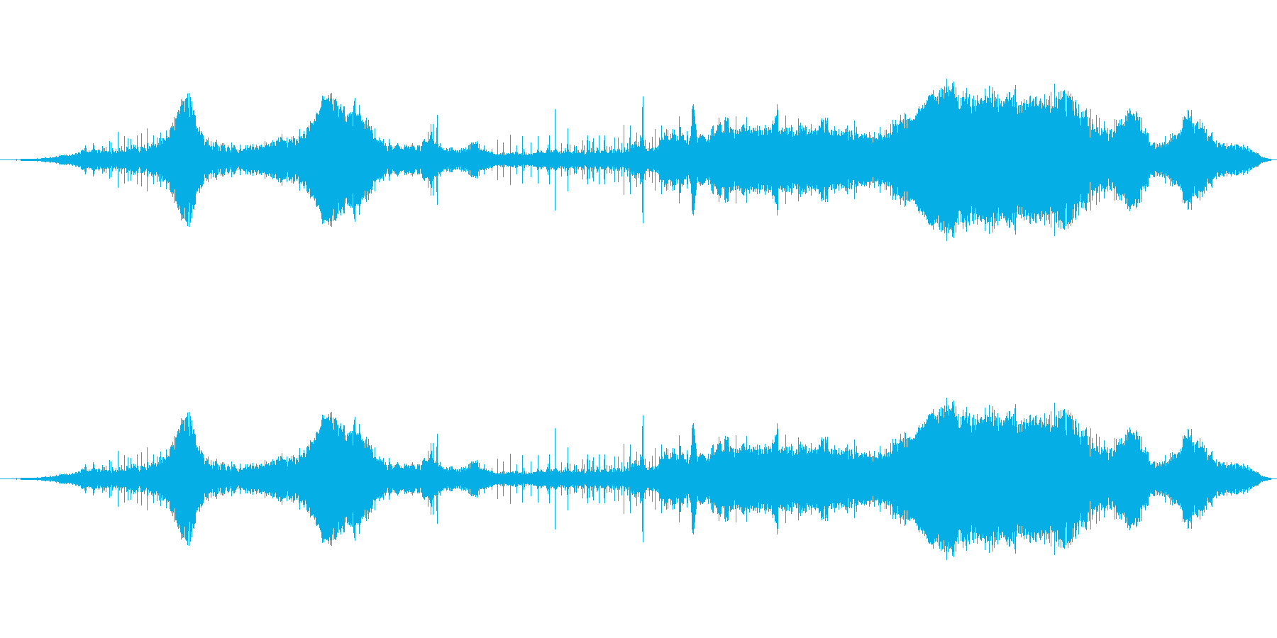サイクリストペロトンパサ0-15の再生済みの波形