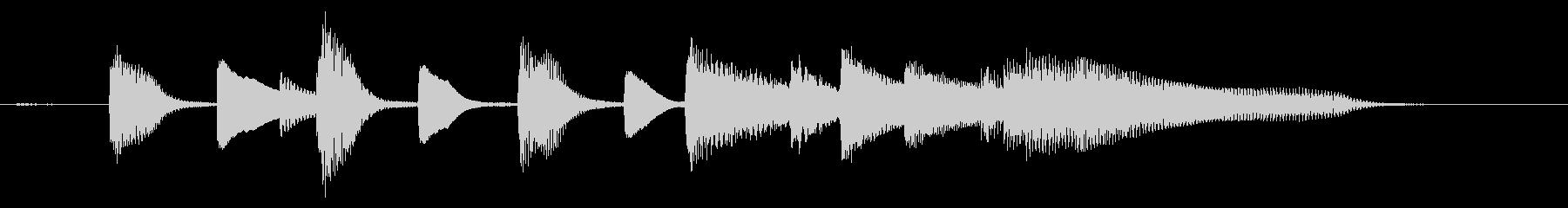 【ジングル】軽快でかわいらしいピアノソロの未再生の波形