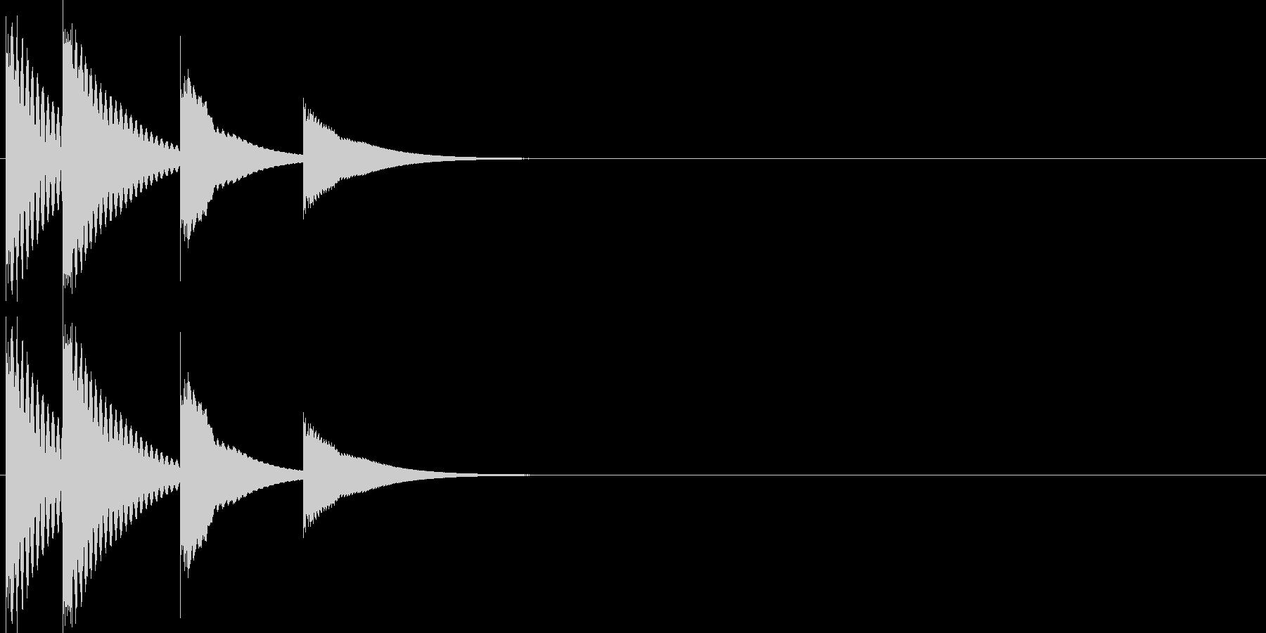 落ち着いた短い木琴ジングルの未再生の波形