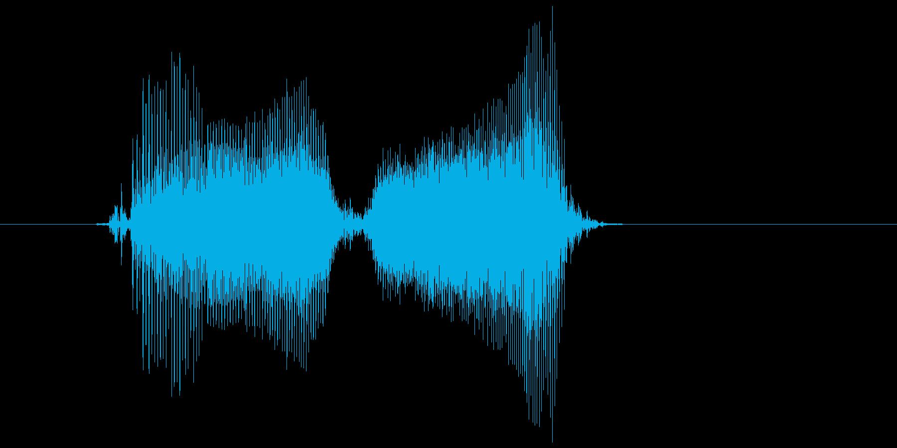 「お願い」の再生済みの波形