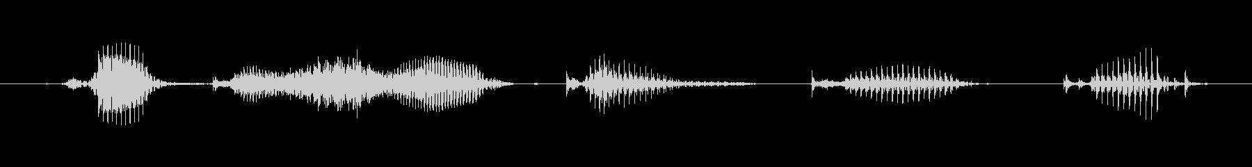 【日数・経過】6週間経過の未再生の波形
