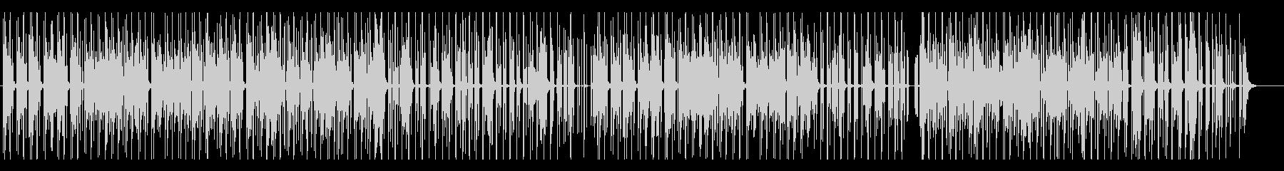 独創的なテクノ風ビート曲の未再生の波形