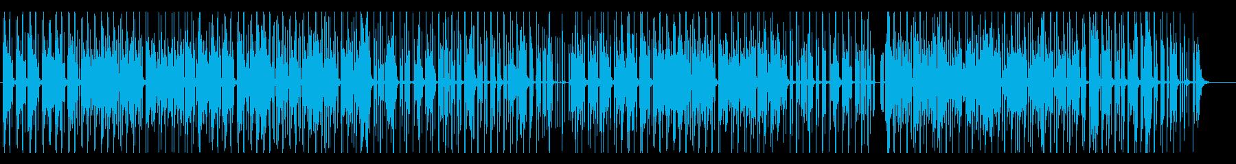 独創的なテクノ風ビート曲の再生済みの波形