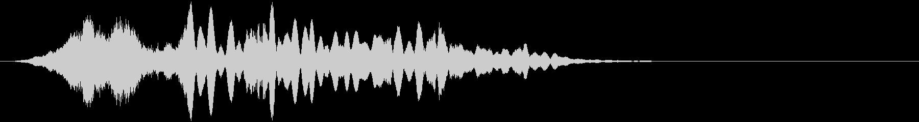 ベルの甲高い共鳴音をシネマティックにの未再生の波形