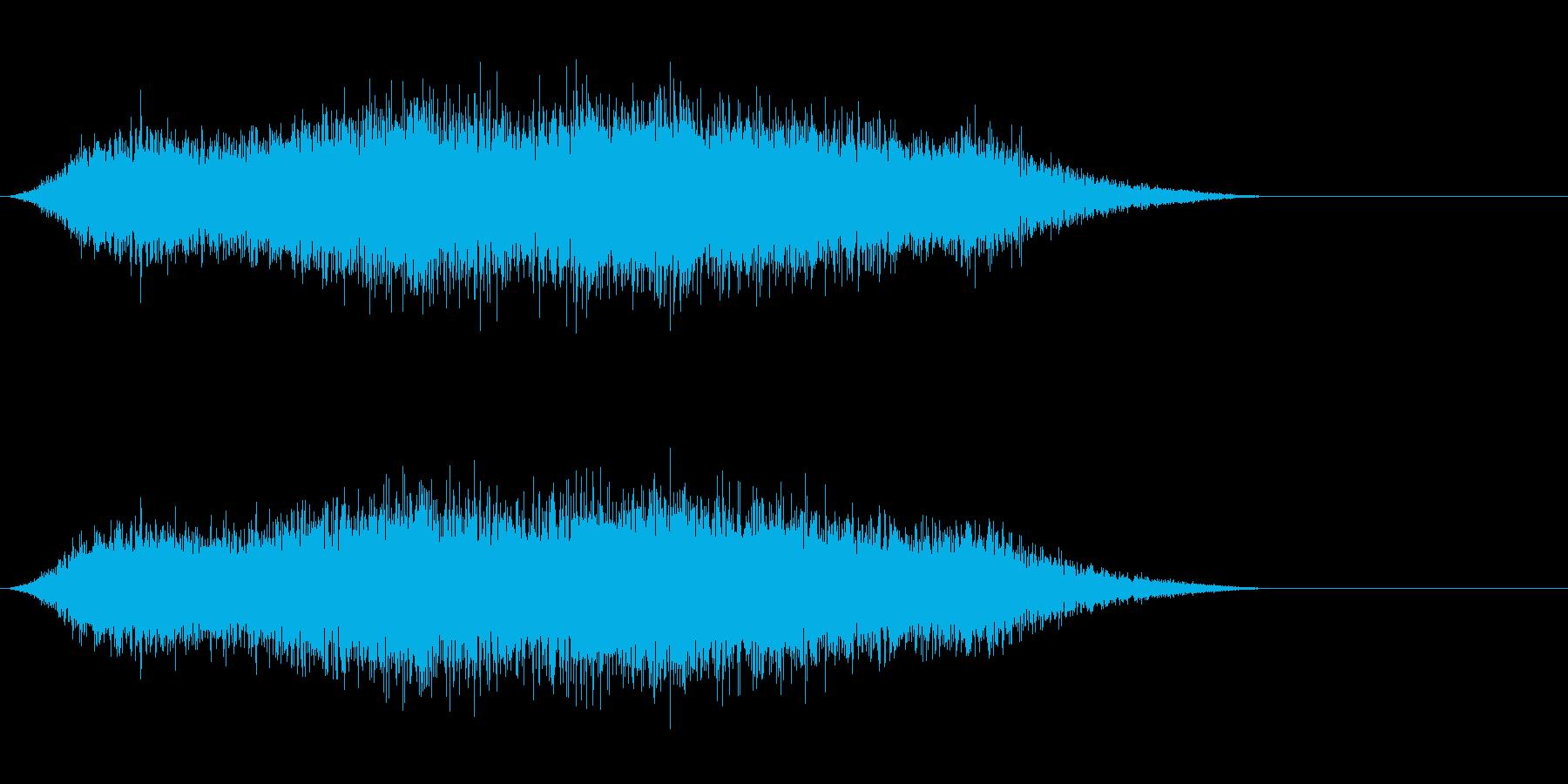 タイトルバック ホラー 10の再生済みの波形