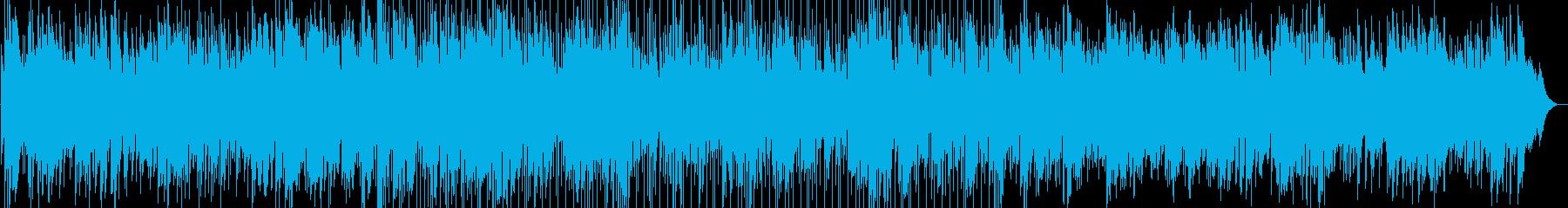 憂鬱、退屈な日々を表現したフォークロックの再生済みの波形