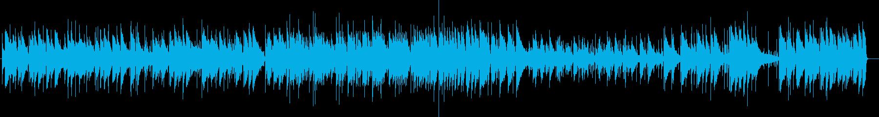 唱歌のジャズピアノ の再生済みの波形