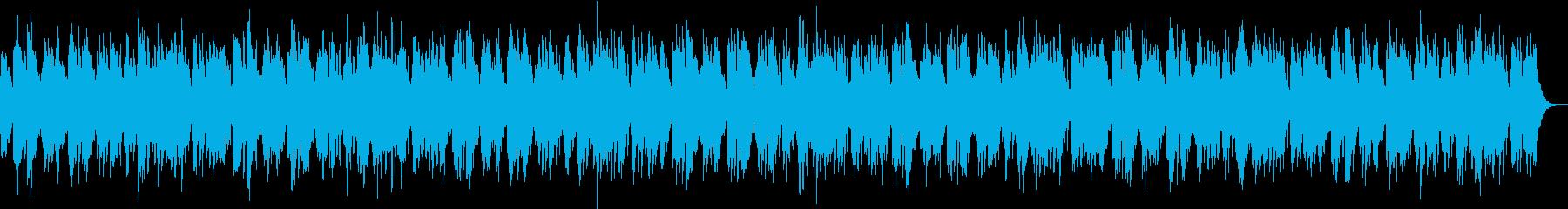 ゆったりした映像に合うヒーリングBGMの再生済みの波形