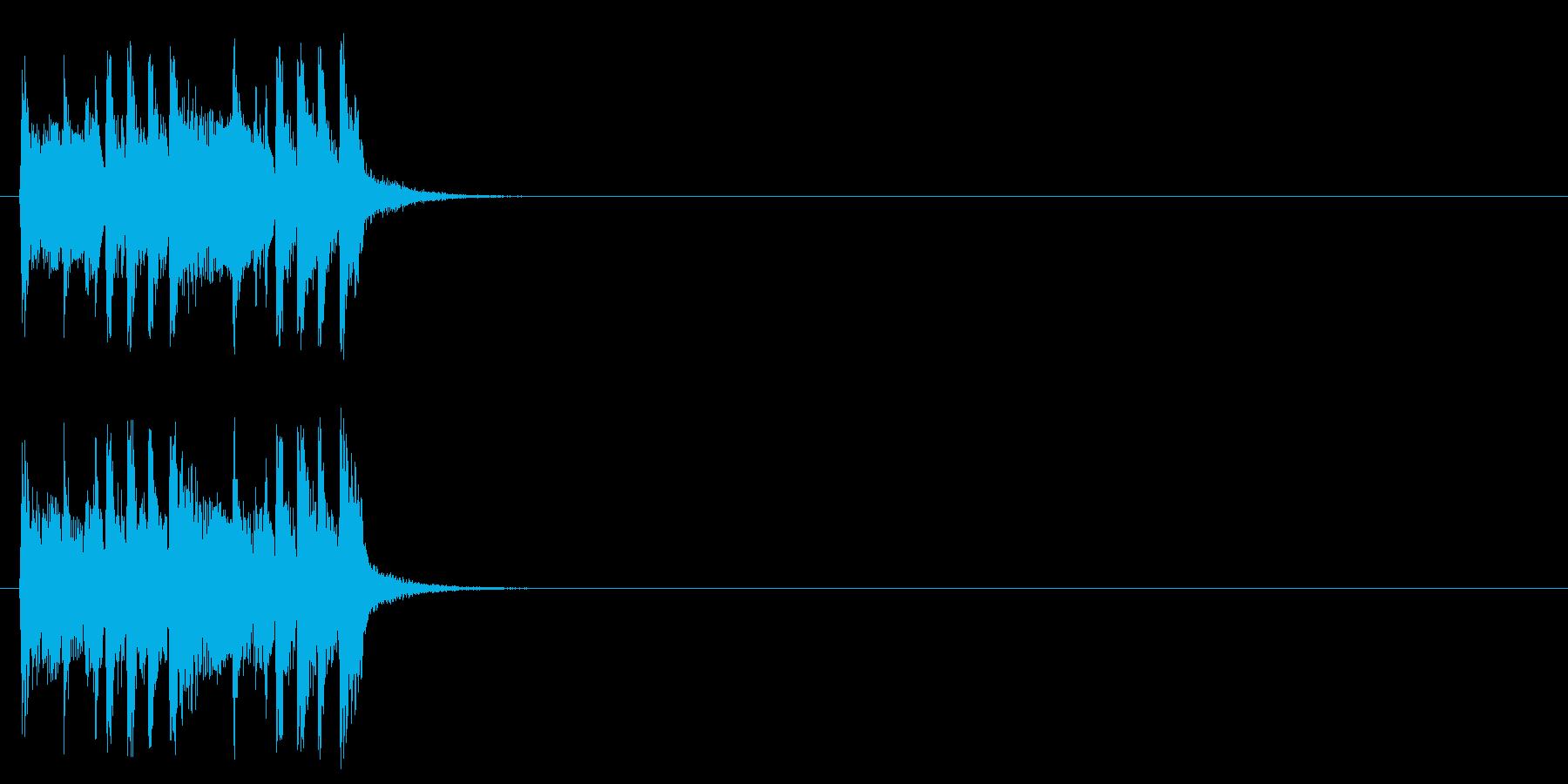 ジングル/アタック(元気なポップ)の再生済みの波形